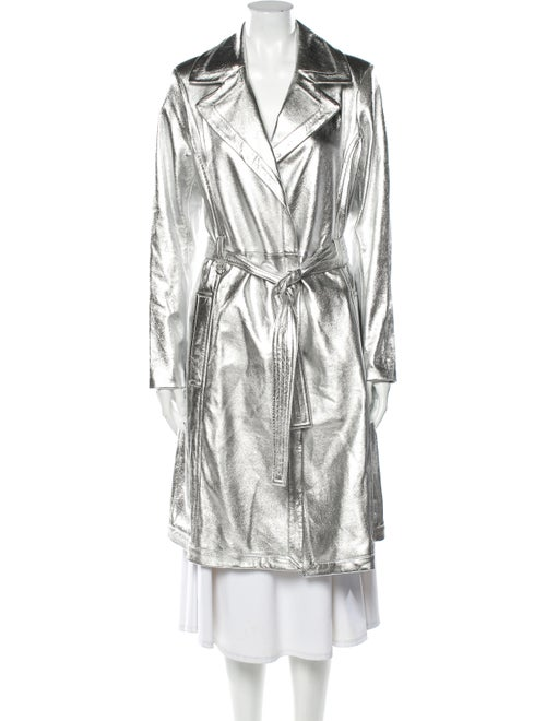 A.l.c. Lamb Leather Trench Coat Silver