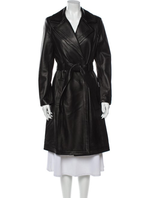 A.l.c. Lamb Leather Trench Coat Black