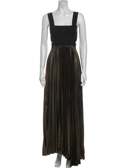 A.l.c. Square Neckline Long Dress Gold