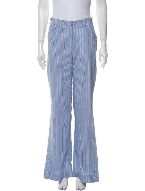 A.l.c. Striped Wide Leg Pants Blue