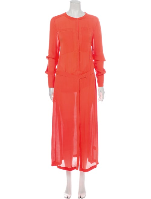 A.l.c. Silk Long Dress Orange