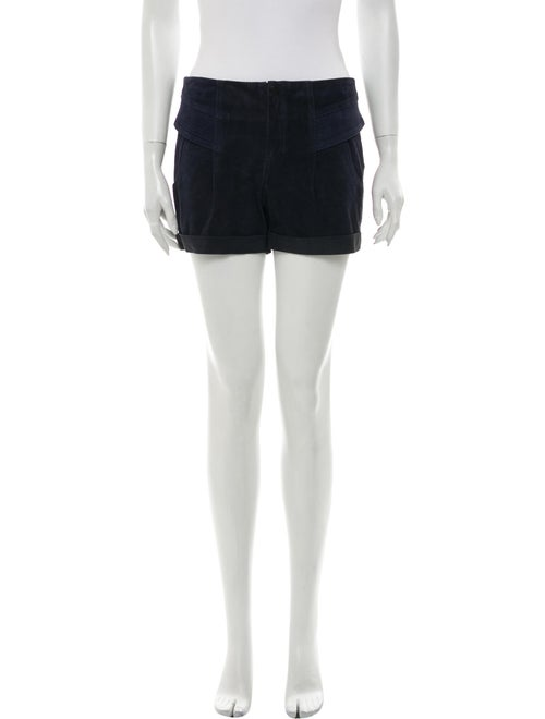 A.l.c. Goat Leather Mini Shorts Blue