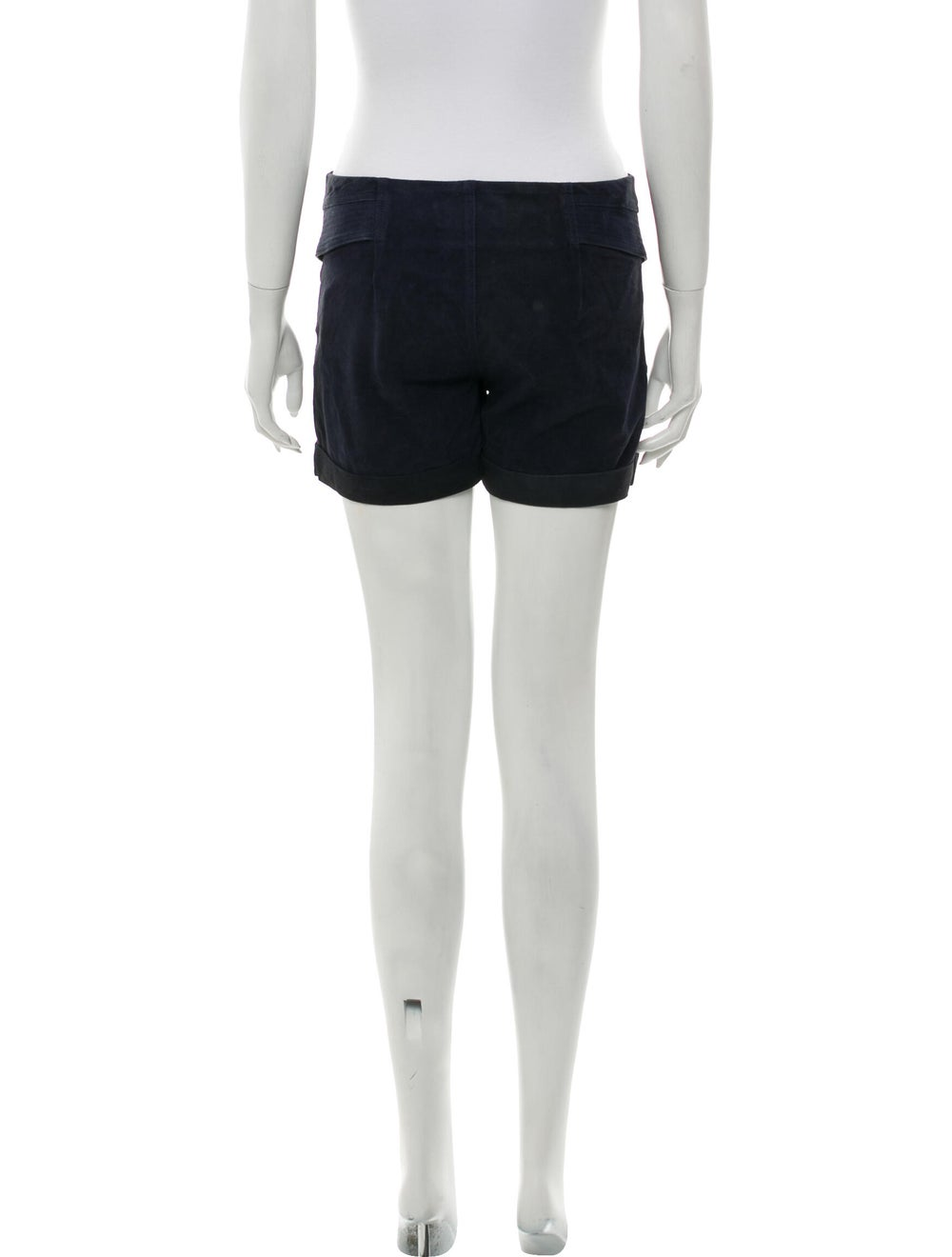 A.l.c. Goat Leather Mini Shorts Blue - image 3