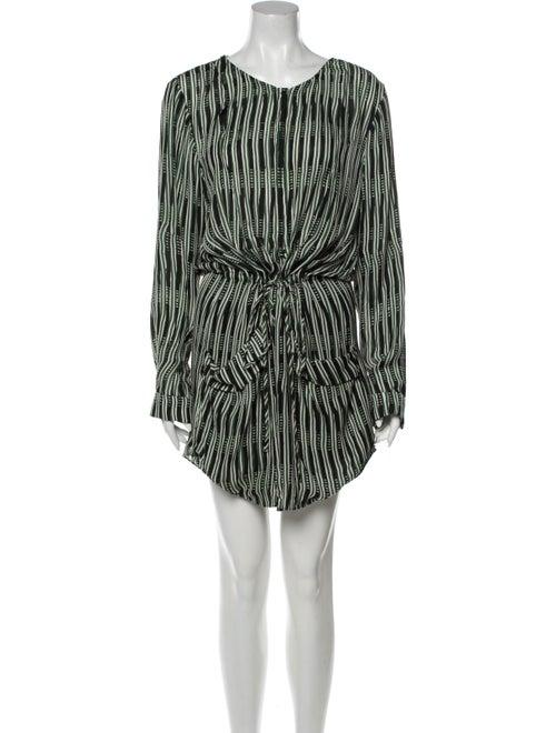 A.l.c. Silk Mini Dress Green