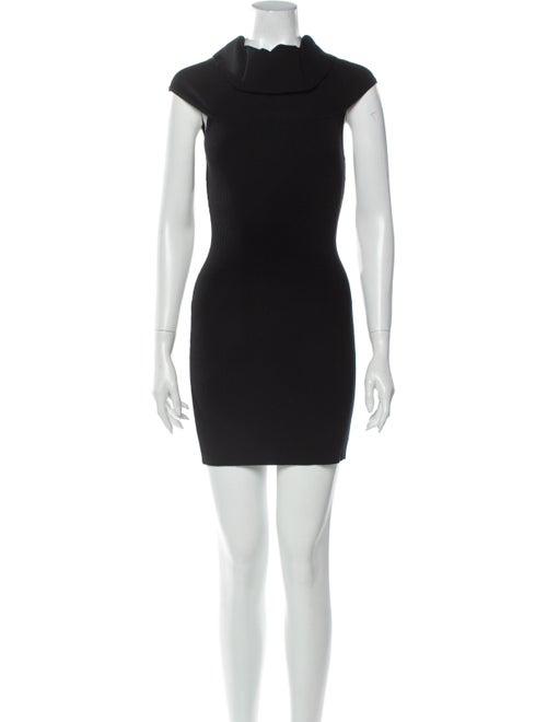 A.l.c. Turtleneck Mini Dress Black