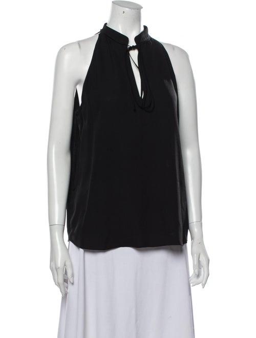 A.l.c. Silk Sleeveless Blouse Black
