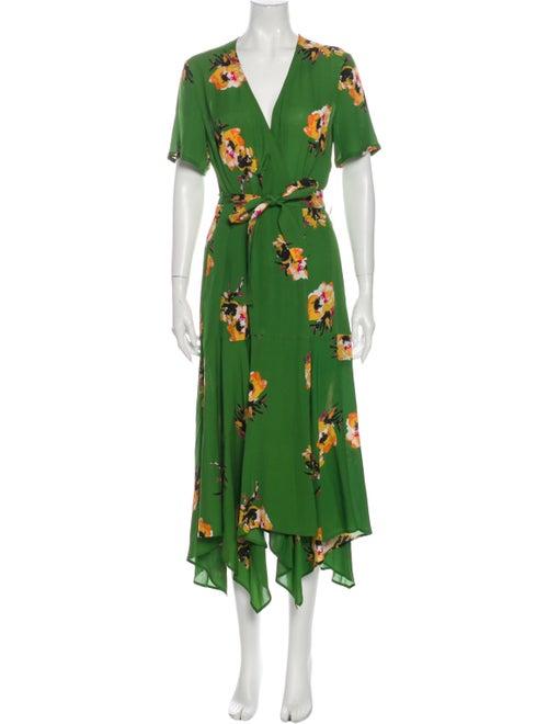 A.l.c. Silk Midi Length Dress Green