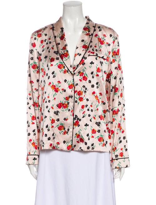 A.l.c. Silk Printed Pajamas w/ Tags Pink