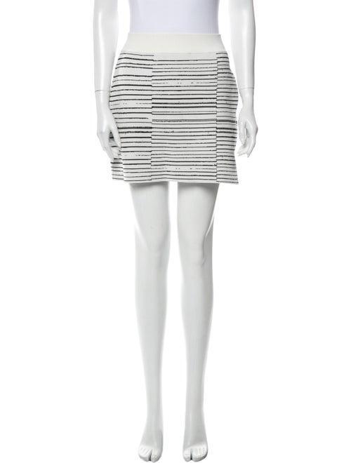 A.l.c. Striped Mini Skirt White