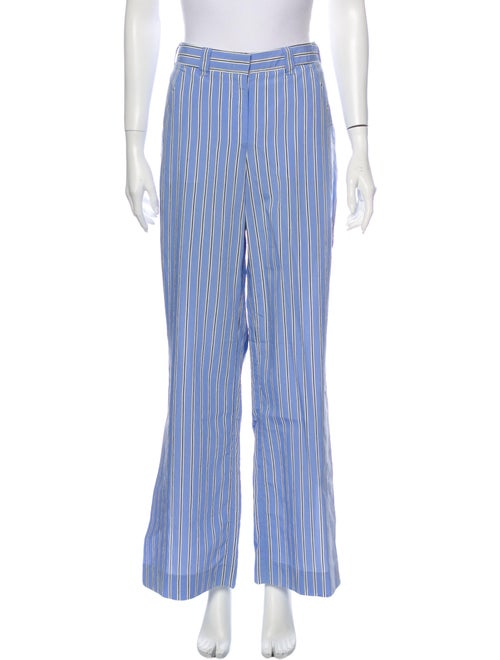 A.l.c. Striped Wide Leg Pants w/ Tags Blue