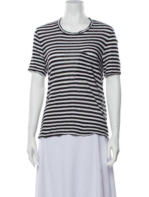 A.l.c. Linen Striped T-Shirt White