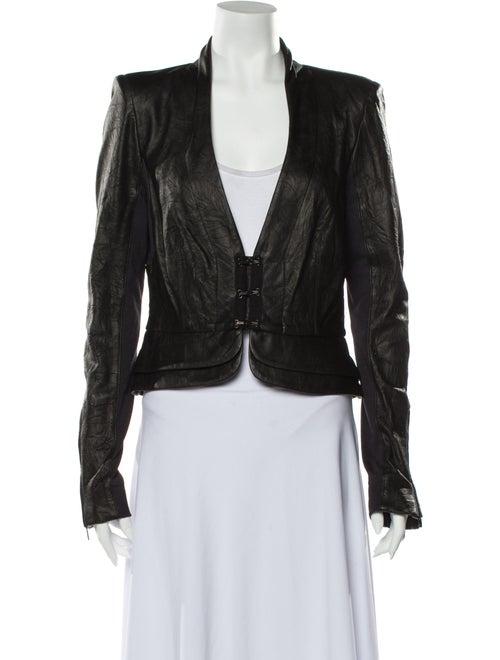 A.l.c. Leather Blazer Black