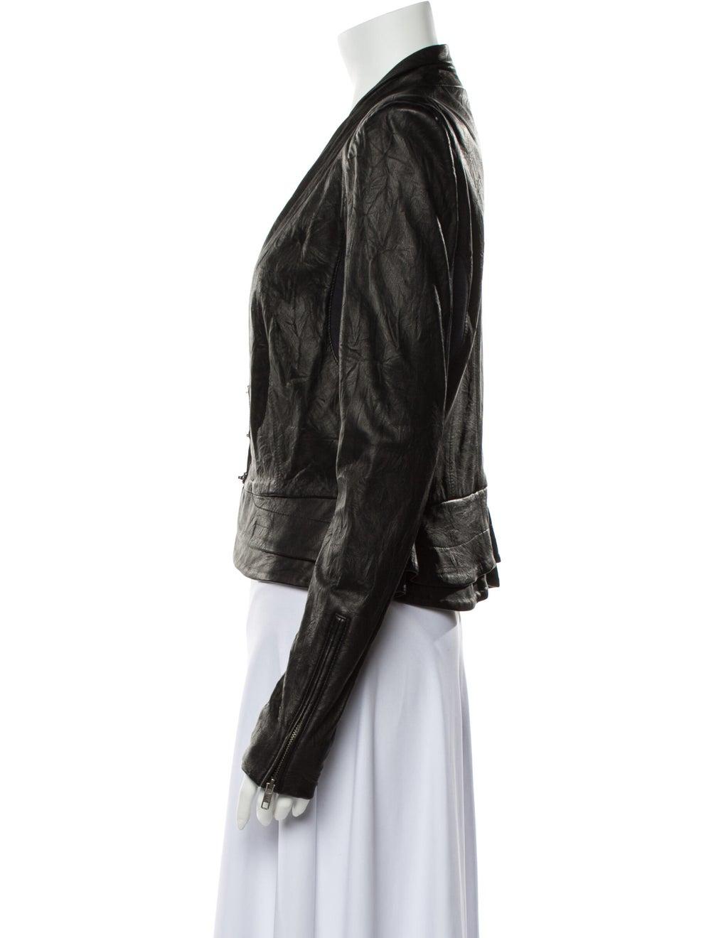 A.l.c. Leather Blazer Black - image 2