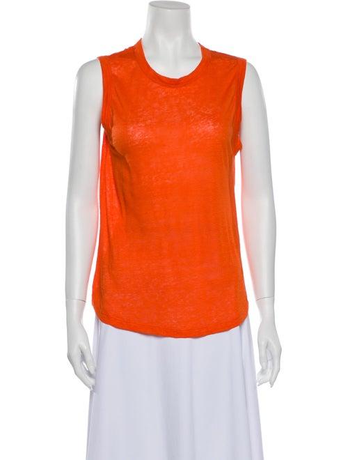 A.l.c. Linen Scoop Neck Top Orange