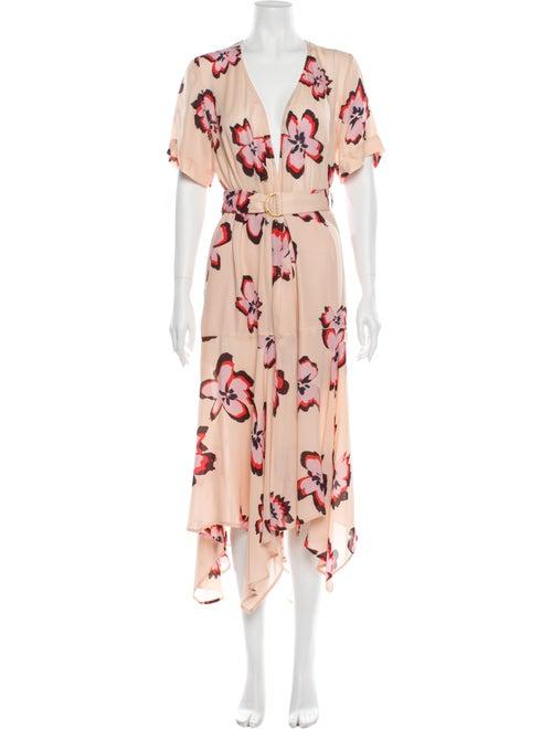A.l.c. Silk Long Dress Pink