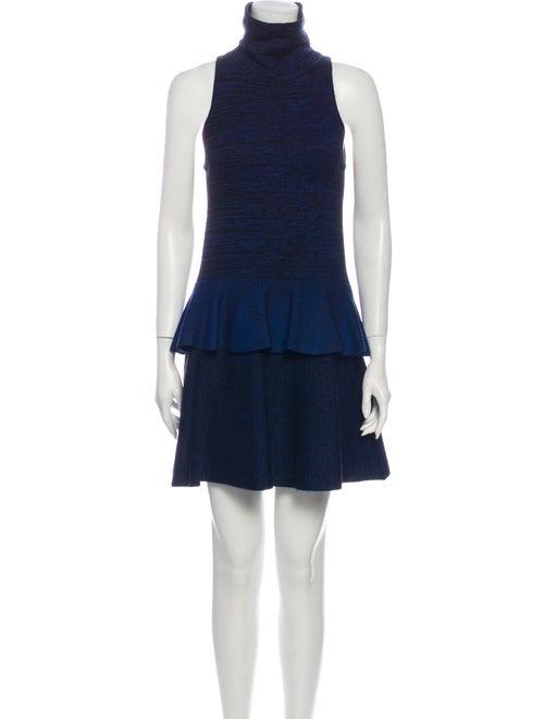 A.l.c. Turtleneck Mini Dress Blue