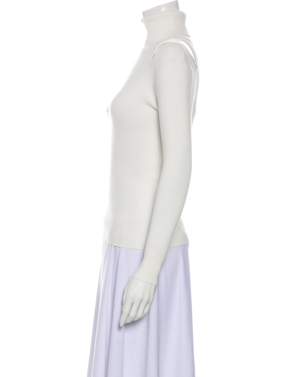 A.l.c. Turtleneck Long Sleeve Top White - image 2