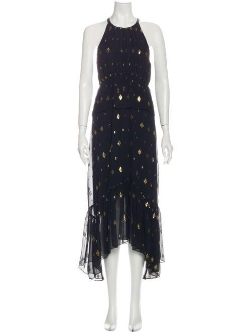 A.l.c. Silk Long Dress Black