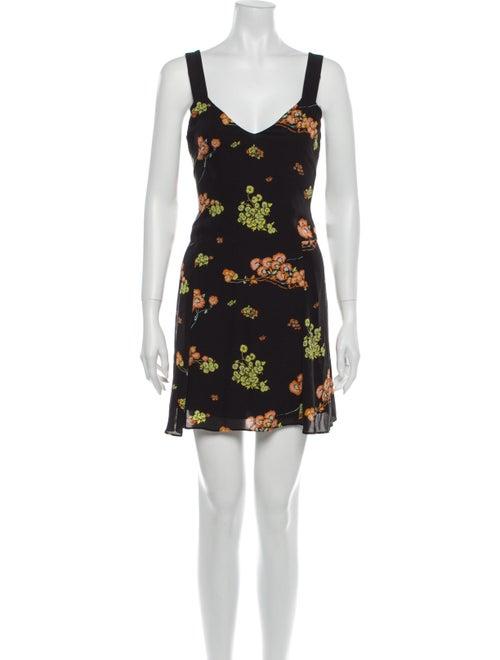 A.l.c. Silk Mini Dress Black - image 1