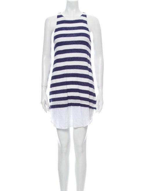 A.l.c. Linen Mini Dress Blue