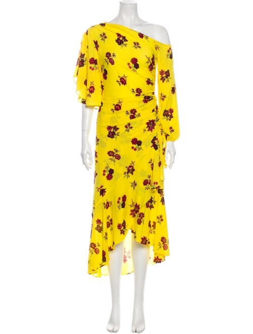 A.l.c. Silk Long Dress Yellow