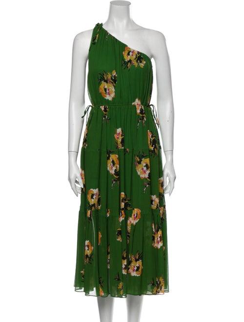 A.l.c. Silk Long Dress Green