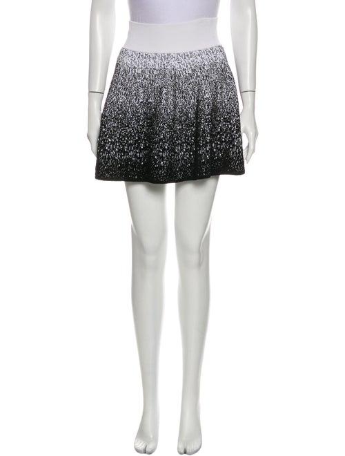 A.l.c. Printed Mini Skirt Black