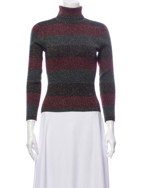 A.l.c. Striped Turtleneck Sweater Green
