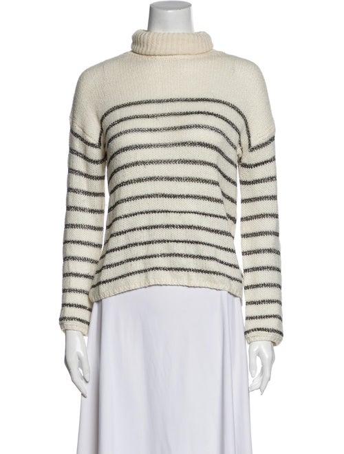 A.l.c. Striped Turtleneck Sweater White