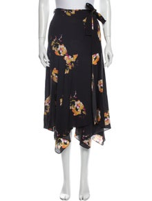 A.L.C. Floral Print Midi Length Skirt w/ Tags