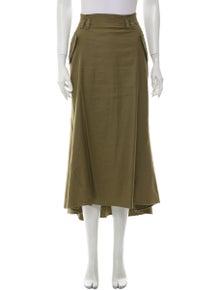 A.L.C. Ruffle Embellishment Midi Length Skirt