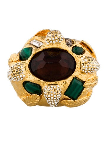 Jeweled Feather Ring