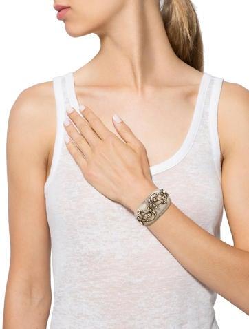 Crystal Branch Lucite Bracelet