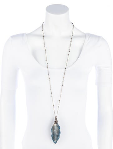 O'Keeffe Long Feather Necklace