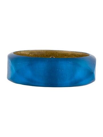 Blue Lucite Cushion Square Bangle