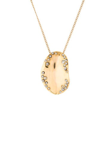 Embellished Oval Pendant Necklace