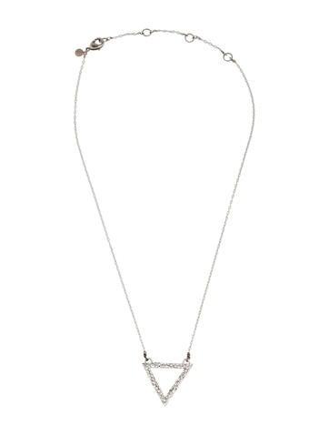 Crystal Embellished Triangle Pendant Necklace
