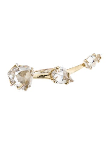 Alexis Bittar Three-Stone Crystal Ring None