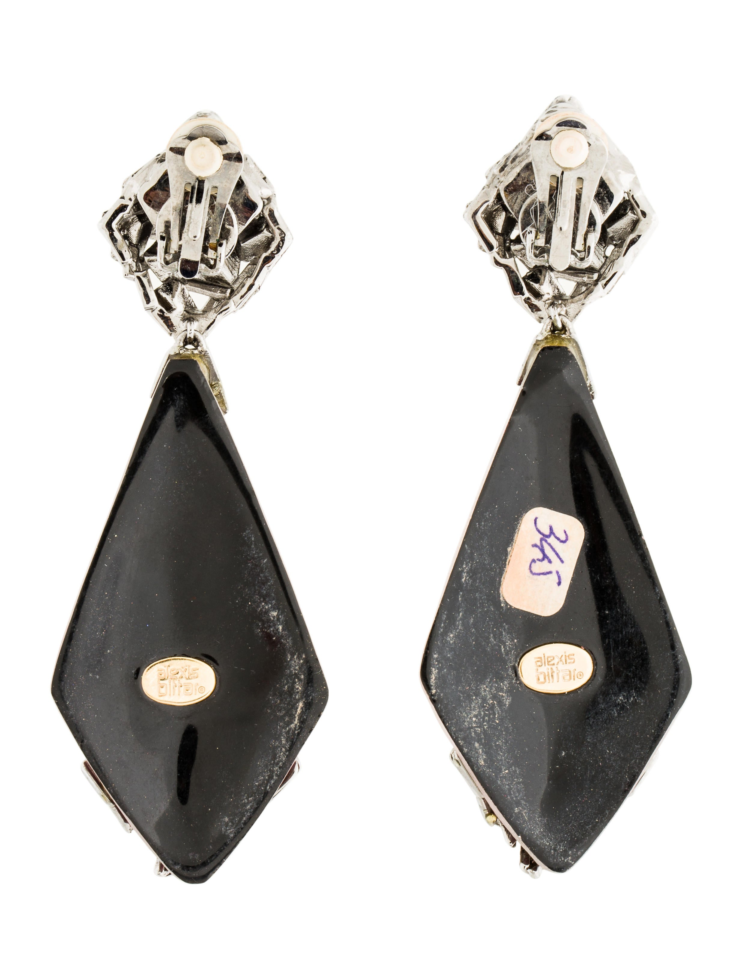 Alexis Bittar Crystal & Lucite Clip-On Earrings