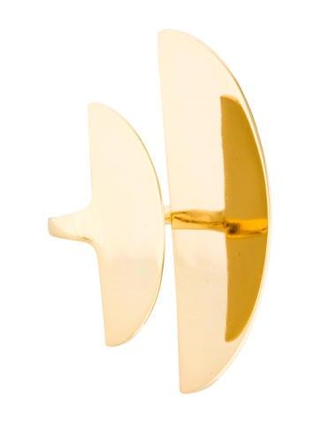 Alexis Bittar Metallic Liquid Shield Ring None