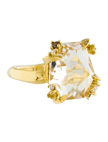 Alexis Bittar 18K Quartz & Diamond Ring None