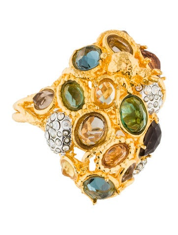 Alexis Bittar Faceted Crystal Bunny Ring None