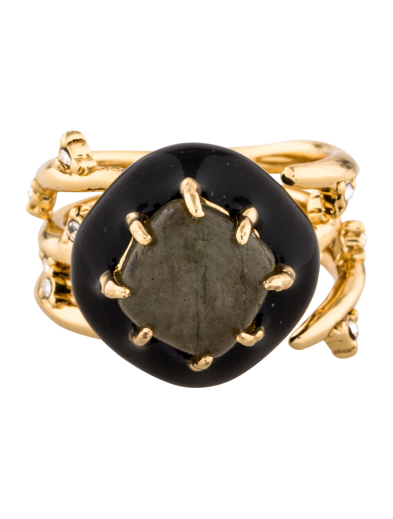 bittar multi spike interlocking ring set rings