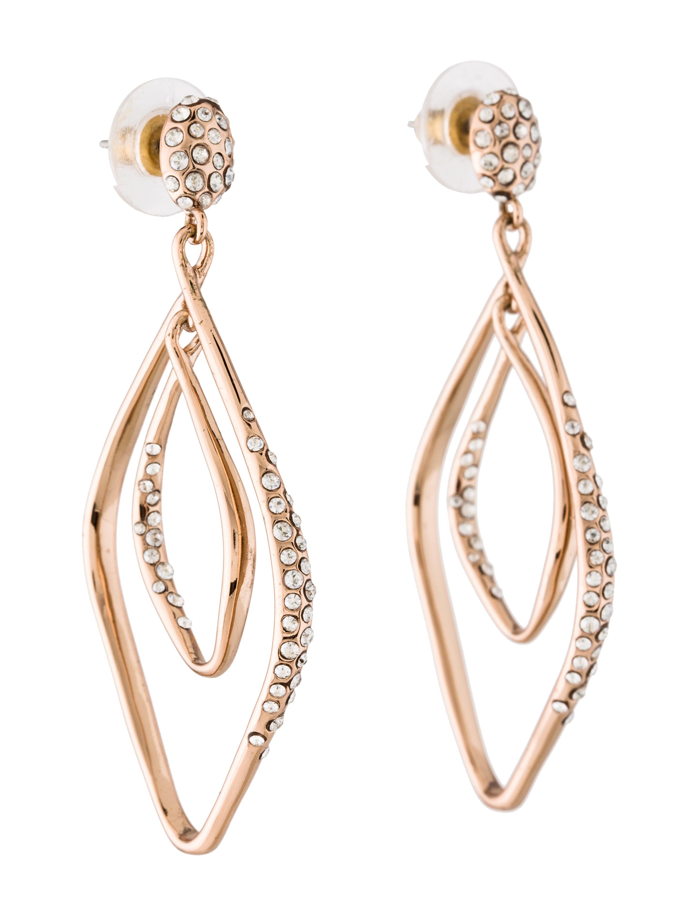 alexis bittar crystal double hoop drop earrings earrings. Black Bedroom Furniture Sets. Home Design Ideas