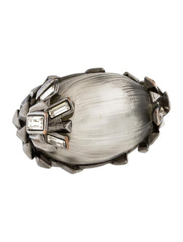Alexis Bittar Crystal & Lucite Cocktail Ring None