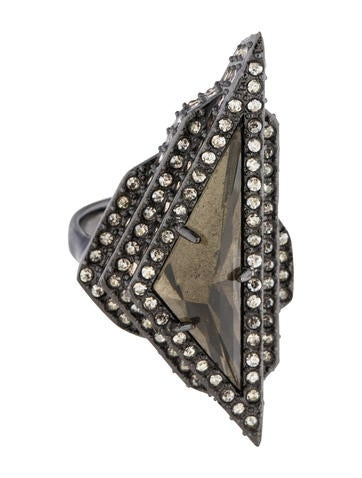 Alexis Bittar Crystal Cocktail Ring None