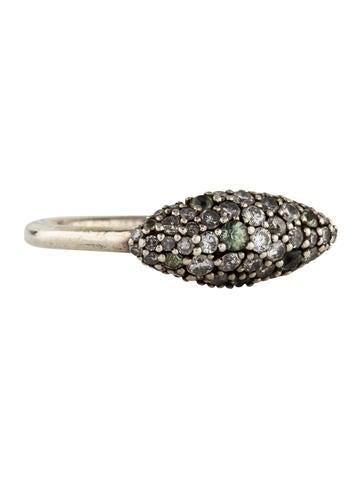 Alexis Bittar Diamond & Sapphire Marquis Ring None