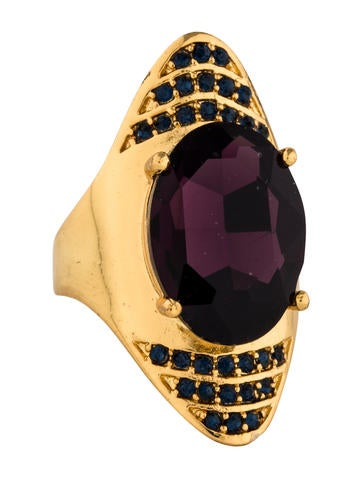 Alexis Bittar Crystal Spike Cocktail Ring None