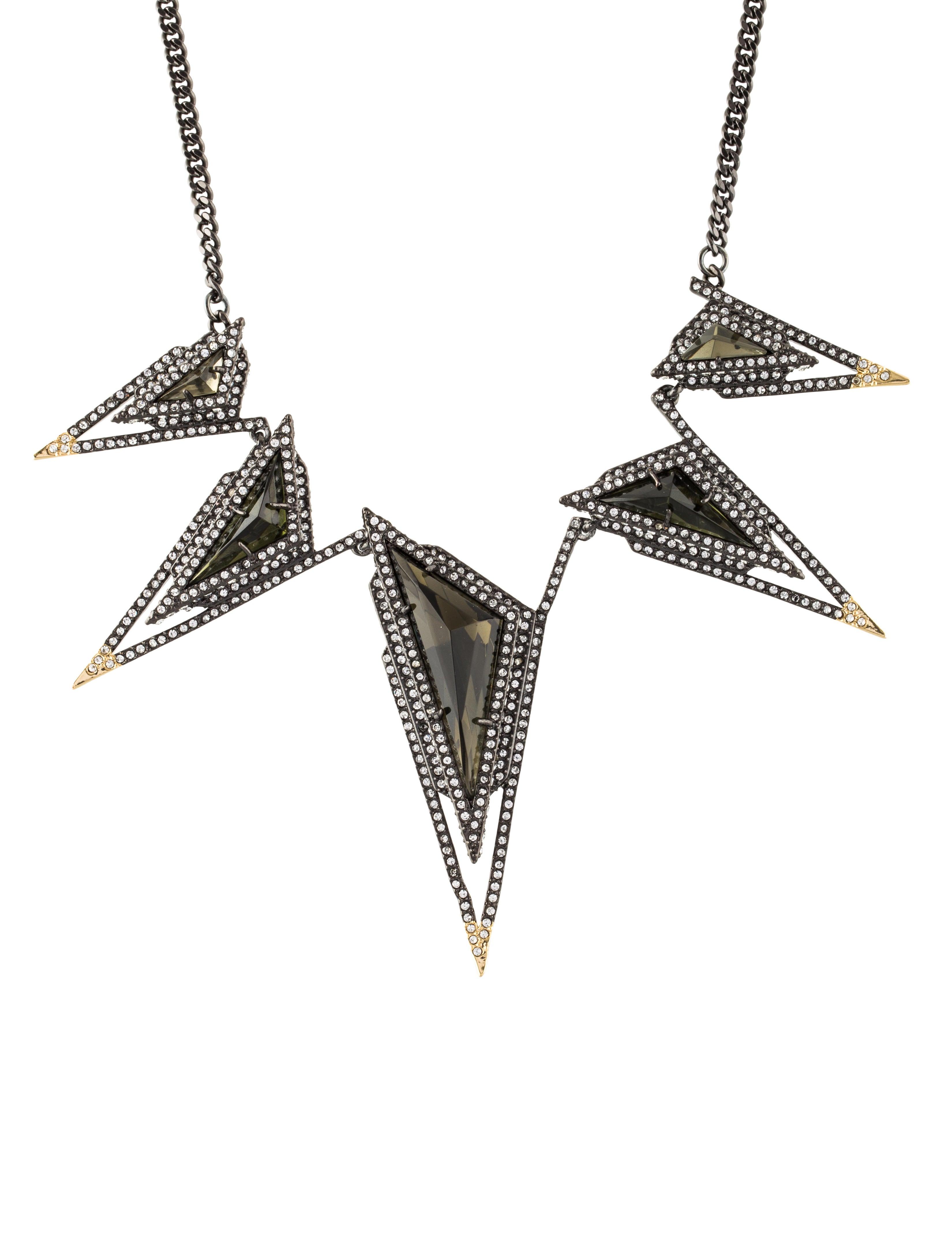 Alexis Bittar Crystal Spike Bib Necklace D2Gnq
