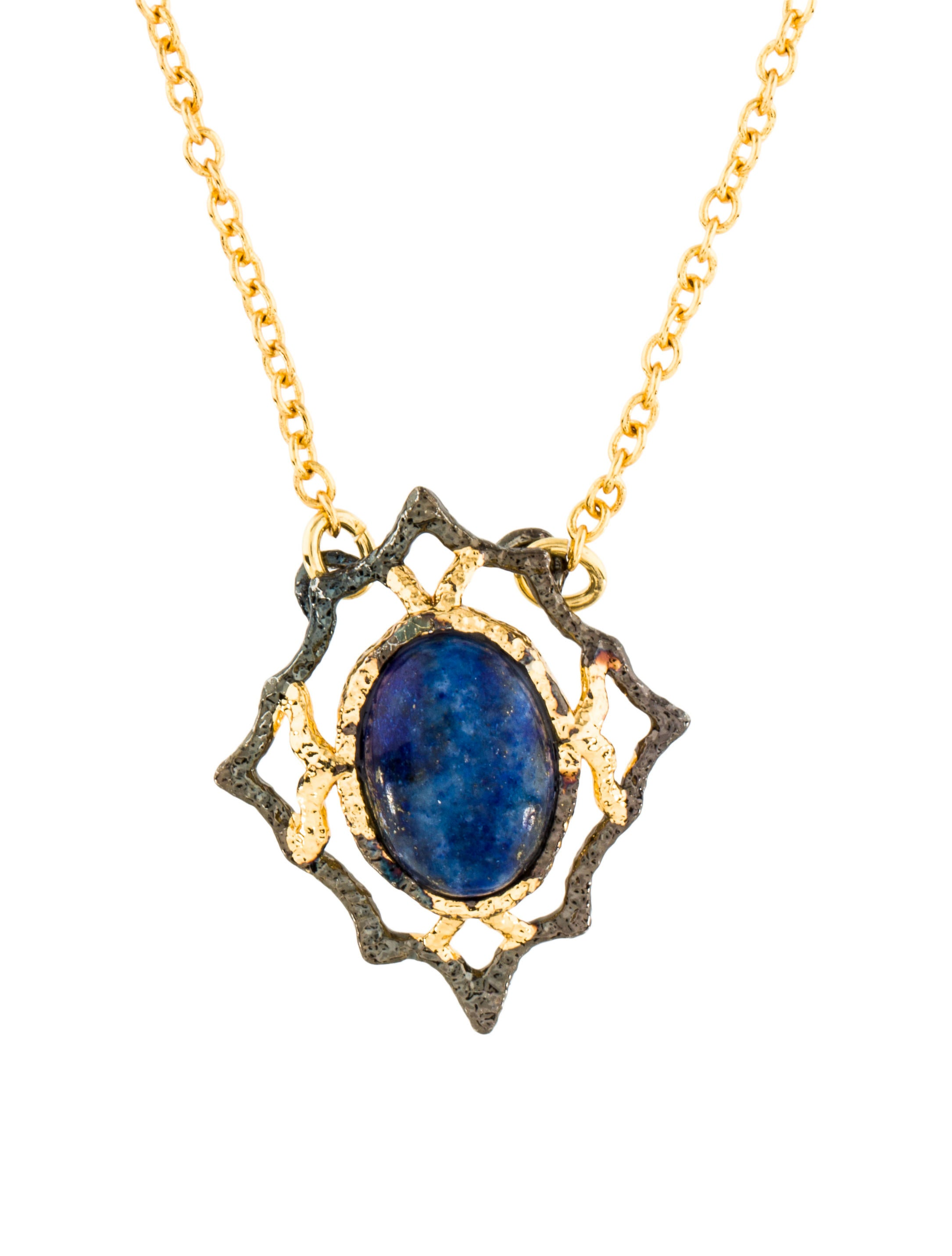 lapis necklace operandi pomellato lazuli moda large blue ritratto pendant by